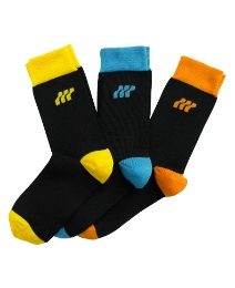 Boxfresh Black Pack of 3 Contrast Socks