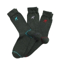 OneTrue Saxon Grey Pack of 3 Logo Socks