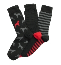OneTrue Saxon Red Pack of 3 Socks