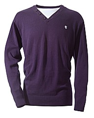 Jacamo Button Neck Jumper