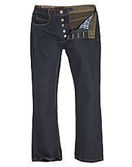 Jacamo Button Fly Bootcut Jeans 29