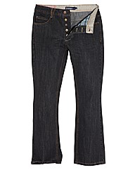 Jacamo Button Fly Bootcut Jeans 29