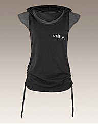 Body Star Yoga Layered Hooded T-Shirt