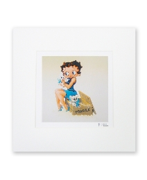 Betty Boop With Puppies Print