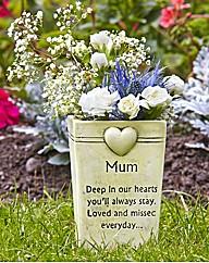 Graveside Memorial Mum Flowerpot