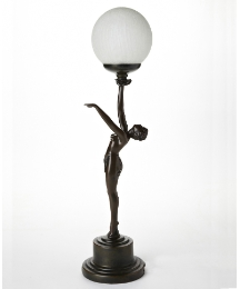 Bronze Reaching Lady Lamp