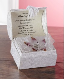 Personalised Crystal Set Star Box