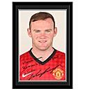 Framed Football Player Signature Photos