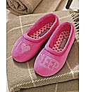 Lotus EEE Fit Mule Slipper I Love Sleep