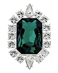 Emerald Crystal Brooch