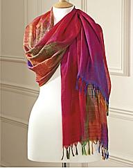 Pure Silk Rainbow Scarf