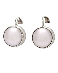 Freshwater Pearl Sliver Clip Earrings