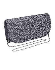 Satin Lace Clutch Bag