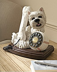 Westie Dog and Bone Phone
