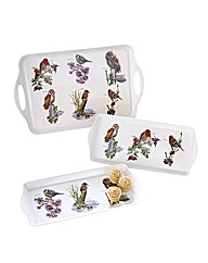 British Birds Trays Set of 3