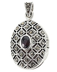 Marcasite Keepsake Locket