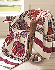 Applique Elephant Throw