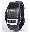 Talking Memo Alarm Watch Black