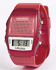 Talking Memo Alarm Watch Red