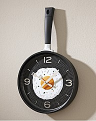 Frying Pan and Egg Wall Clock