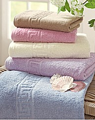 Greek Key 4 Piece Towel Bale