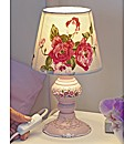Vintage Rose Bedside Lamp