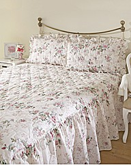 Rose Garden Fitted Bedspread Set