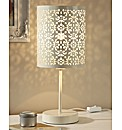 Ornate Cutwork Bedside Lamp