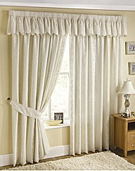 Perth Lined Lace Curtains with Tiebacks