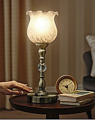Textured Glass Touch Lamp