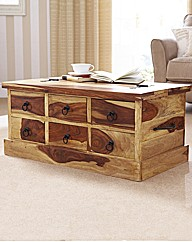 Blonde Sheesham Storage Coffee Table