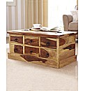 Blonde Sheesham Storage Coffee Table