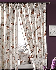 Evelyn Lined Curtains and Tiebacks