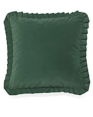 Velour Filled Cushions Pair
