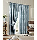 Peacock Feather Faux Silk Curtains
