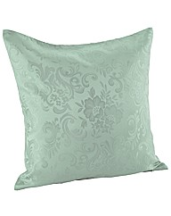 Damask Filled Cushions 18in Pair
