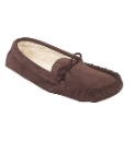 Wool Lined Suede Carpet Slipper