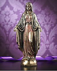 Bronzed Mary Figurine