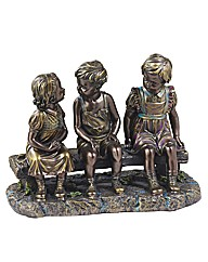 The Chattering Bench Bronzed Figurine