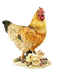 Hen and Chicks Figurine