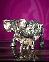 Elephant and Calf Treasured Trinket