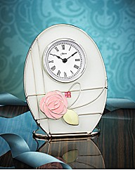 Mackintosh Style Glass & Wire Clock