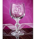 Personalised Birthday Wine Glass