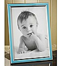 Blue and Silver Plated Photo Frame