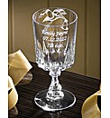 Personalised Christening Glass