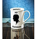 Personalised Mr Silhouette Mug