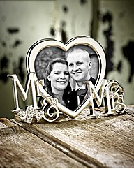 Mr & Mrs Silver Plated Frame