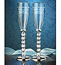Personalised Silver Plated Flutes
