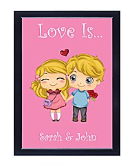 Personalised Love Is Poster Boy & Girl