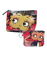 Betty Boop Purse & Make-up Bag Set